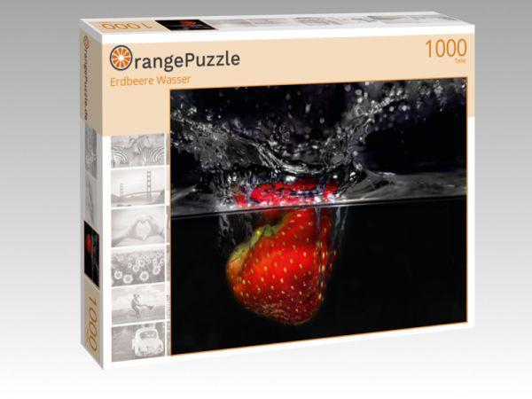 """Puzzle Motiv """"Erdbeere Wasser"""" - Puzzle-Schachtel zu 1000 Teile Puzzle"""