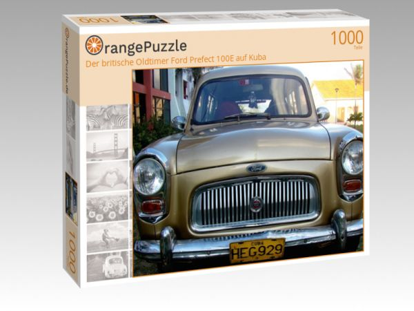 """Puzzle Motiv """"Der britische Oldtimer Ford Prefect 100E auf Kuba"""" - Puzzle-Schachtel zu 1000 Teile Puzzle"""