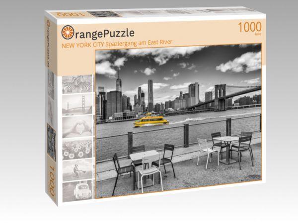 """Puzzle Motiv """"NEW YORK CITY Spaziergang am East River"""" - Puzzle-Schachtel zu 1000 Teile Puzzle"""