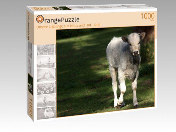 """Puzzle Motiv """"Unsere Lieblinge aus Haus und Hof - Kalb"""" - Puzzle-Schachtel zu 1000 Teile Puzzle"""