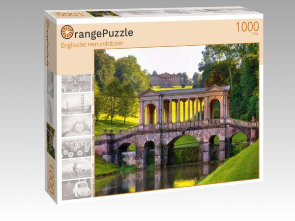 """Puzzle Motiv """"Englische Herrenhäuser"""" - Puzzle-Schachtel zu 1000 Teile Puzzle"""