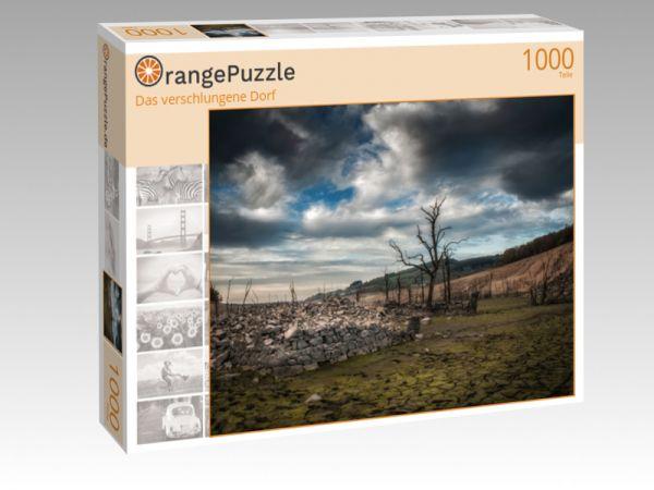 """Puzzle Motiv """"Das verschlungene Dorf"""" - Puzzle-Schachtel zu 1000 Teile Puzzle"""