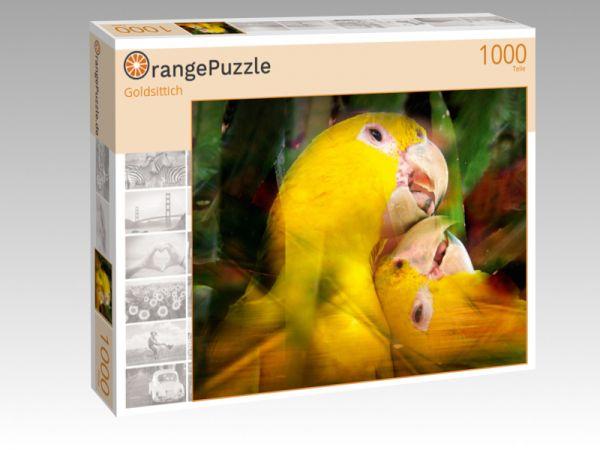 """Puzzle Motiv """"Goldsittich"""" - Puzzle-Schachtel zu 1000 Teile Puzzle"""