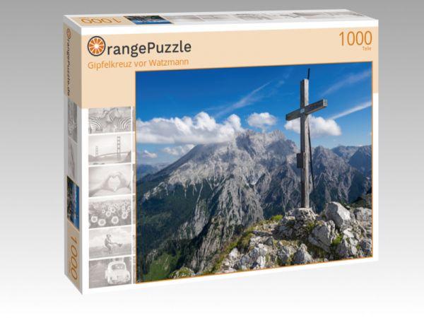 """Puzzle Motiv """"Gipfelkreuz vor Watzmann"""" - Puzzle-Schachtel zu 1000 Teile Puzzle"""