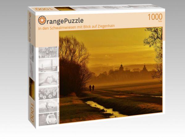 """Puzzle Motiv """"In den Schwalmwiesen mit Blick auf Ziegenhain"""" - Puzzle-Schachtel zu 1000 Teile Puzzle"""
