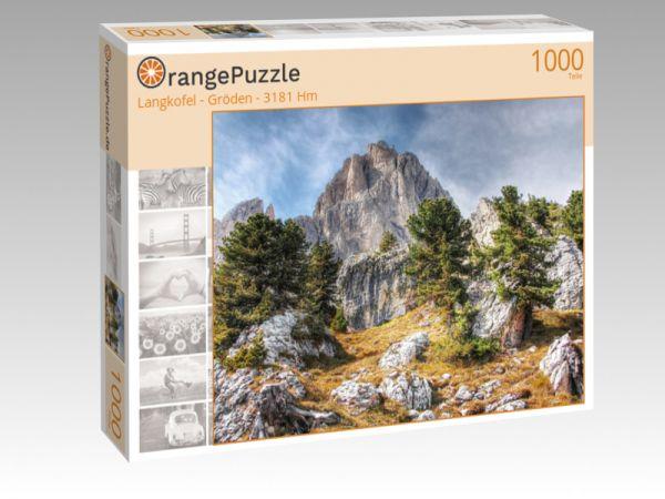 """Puzzle Motiv """"Langkofel - Gröden - 3181 Hm"""" - Puzzle-Schachtel zu 1000 Teile Puzzle"""