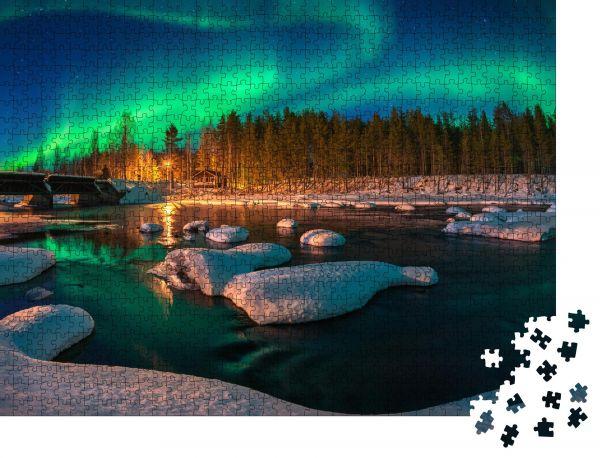 """Puzzle-Motiv """"Nordlicht Aurora borealis"""" - Puzzle-Teile zu 1000 Teile Puzzle"""