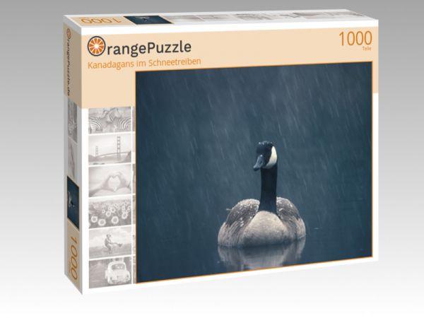 """Puzzle Motiv """"Kanadagans im Schneetreiben"""" - Puzzle-Schachtel zu 1000 Teile Puzzle"""