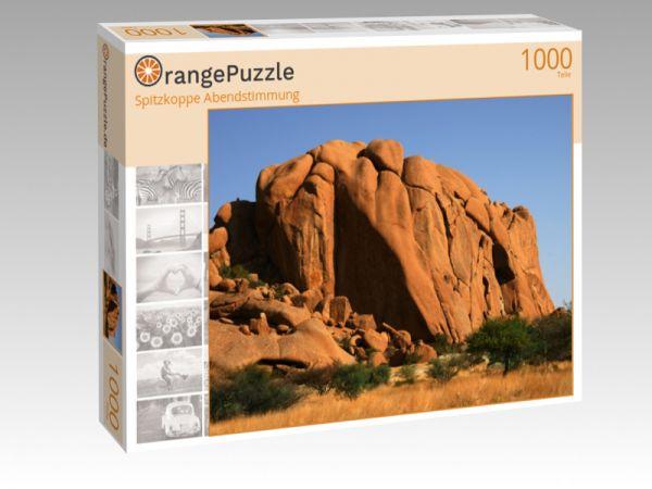 "Puzzle Motiv ""Spitzkoppe Abendstimmung"" - Puzzle-Schachtel zu 1000 Teile Puzzle"