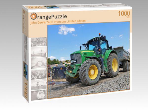 """Puzzle Motiv """"John Deere 7430 Premium Limited Edition"""" - Puzzle-Schachtel zu 1000 Teile Puzzle"""
