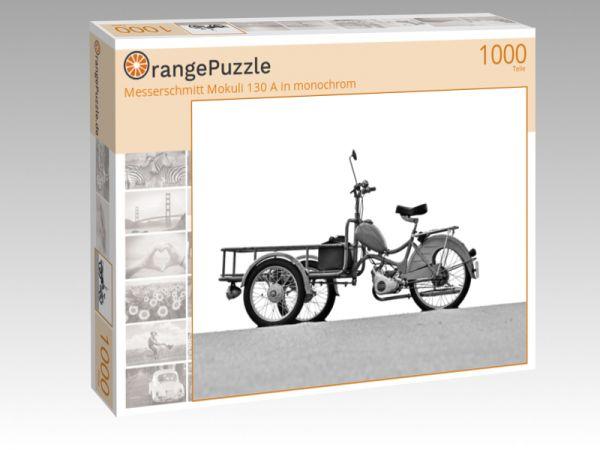"Puzzle Motiv ""Messerschmitt Mokuli 130 A in monochrom"" - Puzzle-Schachtel zu 1000 Teile Puzzle"