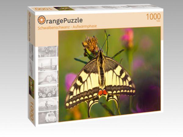 """Puzzle Motiv """"Schwalbenschwanz - Aufwärmphase"""" - Puzzle-Schachtel zu 1000 Teile Puzzle"""