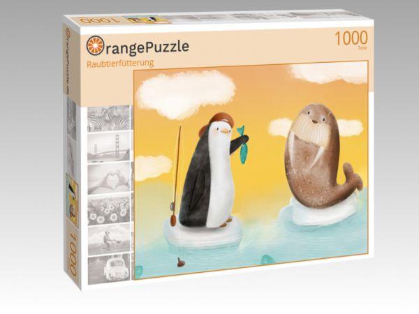 """Puzzle Motiv """"Raubtierfütterung"""" - Puzzle-Schachtel zu 1000 Teile Puzzle"""