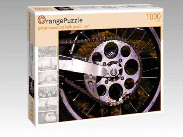 """Puzzle Motiv """"gut gespannt ist halb gewonnen"""" - Puzzle-Schachtel zu 1000 Teile Puzzle"""
