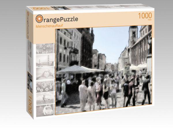 """Puzzle Motiv """"Menschenauflauf"""" - Puzzle-Schachtel zu 1000 Teile Puzzle"""
