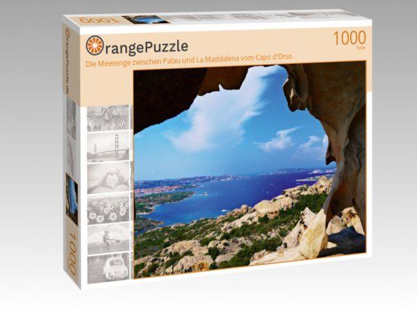 """Puzzle Motiv """"Die Meerenge zwischen Palau und La Maddalena vom Capo d'Orso"""" - Puzzle-Schachtel zu 1000 Teile Puzzle"""