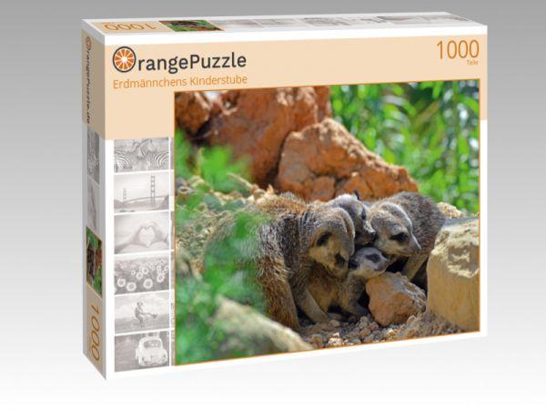 "Puzzle Motiv ""Erdmännchens Kinderstube"" - Puzzle-Schachtel zu 1000 Teile Puzzle"