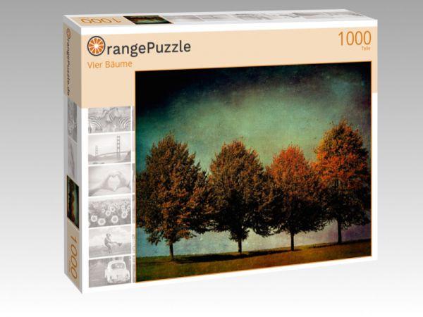 """Puzzle Motiv """"Vier Bäume"""" - Puzzle-Schachtel zu 1000 Teile Puzzle"""
