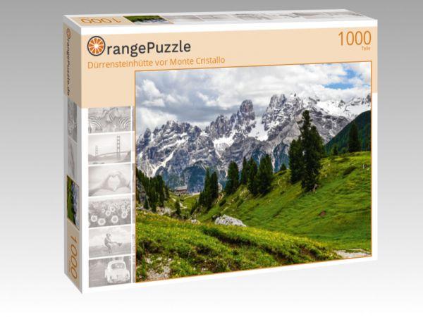 """Puzzle Motiv """"Dürrensteinhütte vor Monte Cristallo"""" - Puzzle-Schachtel zu 1000 Teile Puzzle"""
