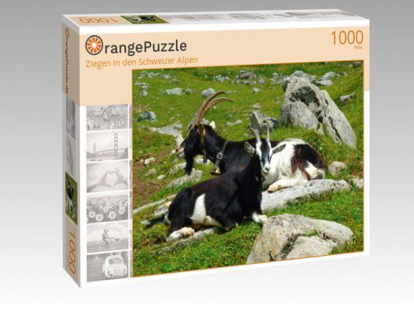 """Puzzle Motiv """"Ziegen in den Schweizer Alpen"""" - Puzzle-Schachtel zu 1000 Teile Puzzle"""