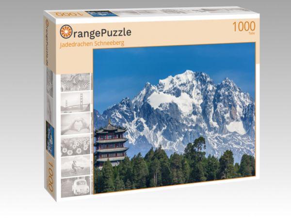 """Puzzle Motiv """"Jadedrachen Schneeberg"""" - Puzzle-Schachtel zu 1000 Teile Puzzle"""
