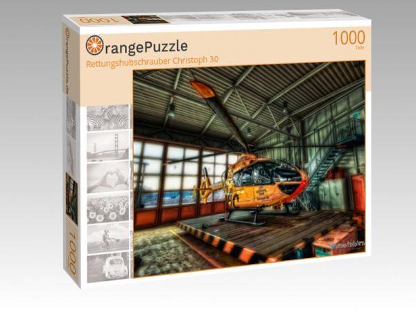"""Puzzle Motiv """"Rettungshubschrauber Christoph 30"""" - Puzzle-Schachtel zu 1000 Teile Puzzle"""