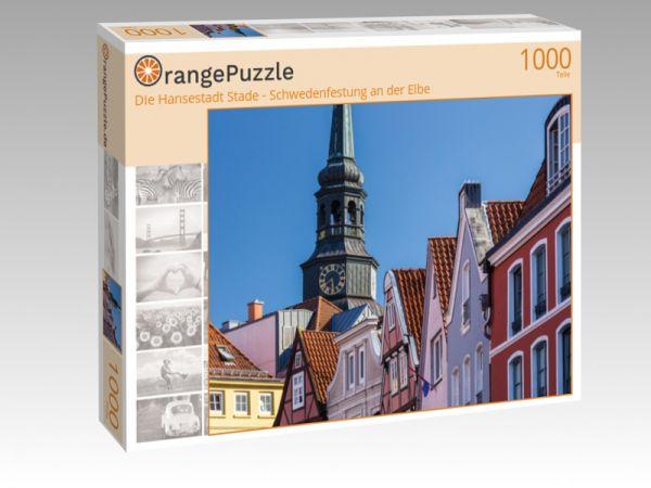 """Puzzle Motiv """"Die Hansestadt Stade - Schwedenfestung an der Elbe"""" - Puzzle-Schachtel zu 1000 Teile Puzzle"""