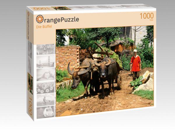 """Puzzle Motiv """"Die Büffel"""" - Puzzle-Schachtel zu 1000 Teile Puzzle"""