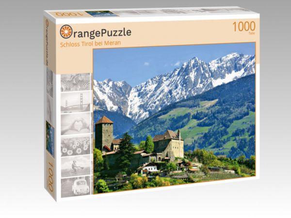 """Puzzle Motiv """"Schloss Tirol bei Meran"""" - Puzzle-Schachtel zu 1000 Teile Puzzle"""