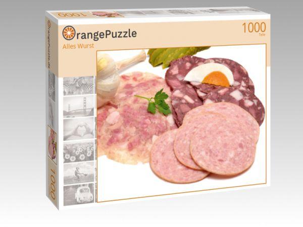 """Puzzle Motiv """"Alles Wurst"""" - Puzzle-Schachtel zu 1000 Teile Puzzle"""