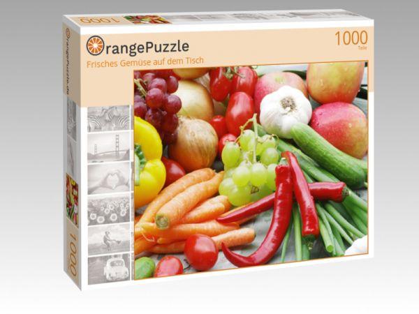 """Puzzle Motiv """"Frisches Gemüse auf dem Tisch"""" - Puzzle-Schachtel zu 1000 Teile Puzzle"""
