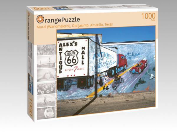 "Puzzle Motiv ""Mural (Wandmalerei), Old Jacinto, Amarillo, Texas"" - Puzzle-Schachtel zu 1000 Teile Puzzle"