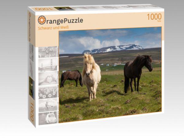"""Puzzle Motiv """"Schwarz und Weiß"""" - Puzzle-Schachtel zu 1000 Teile Puzzle"""
