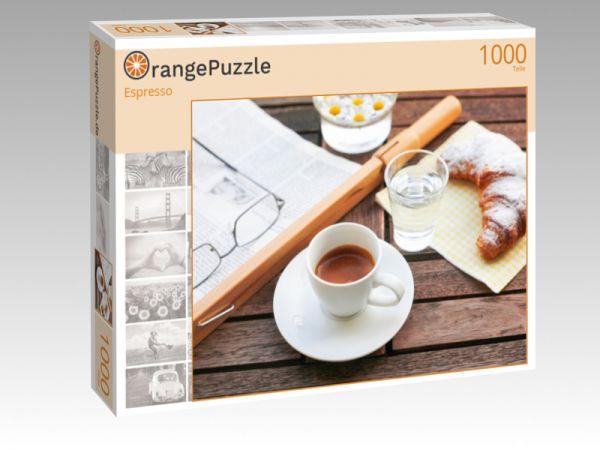 """Puzzle Motiv """"Espresso"""" - Puzzle-Schachtel zu 1000 Teile Puzzle"""