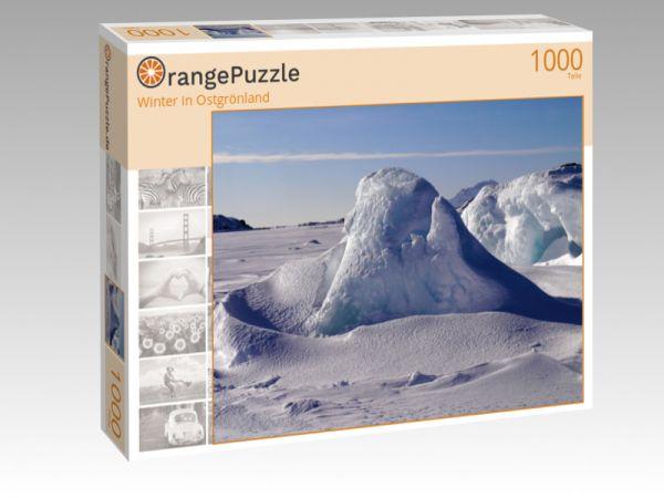 """Puzzle Motiv """"Winter in Ostgrönland"""" - Puzzle-Schachtel zu 1000 Teile Puzzle"""