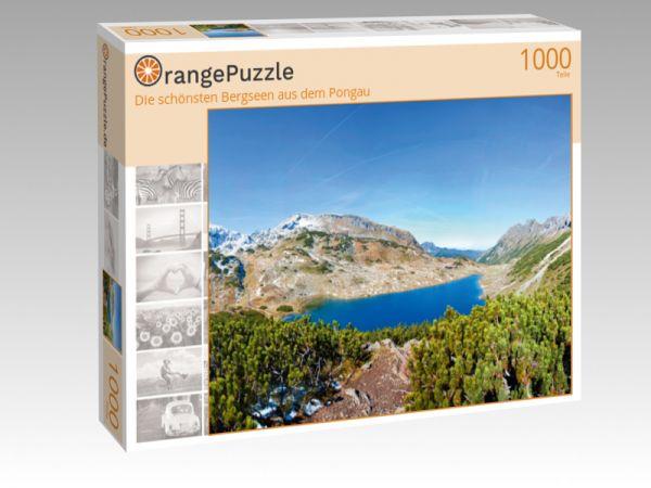 """Puzzle Motiv """"Die schönsten Bergseen aus dem Pongau"""" - Puzzle-Schachtel zu 1000 Teile Puzzle"""