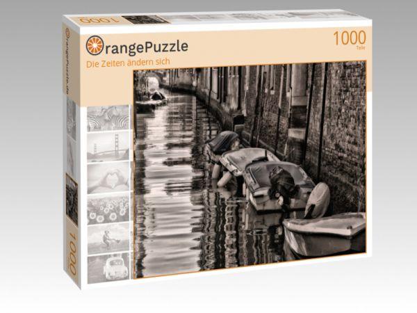 """Puzzle Motiv """"Die Zeiten ändern sich"""" - Puzzle-Schachtel zu 1000 Teile Puzzle"""