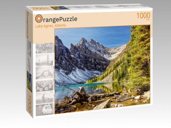 """Puzzle Motiv """"Lake Agnes, Alberta"""" - Puzzle-Schachtel zu 1000 Teile Puzzle"""