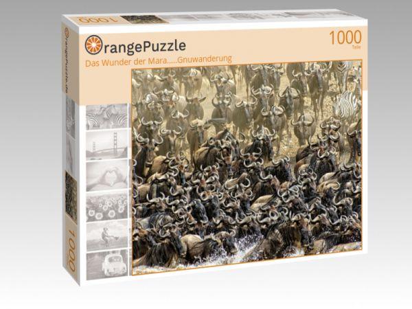 """Puzzle Motiv """"Das Wunder der Mara.....Gnuwanderung"""" - Puzzle-Schachtel zu 1000 Teile Puzzle"""