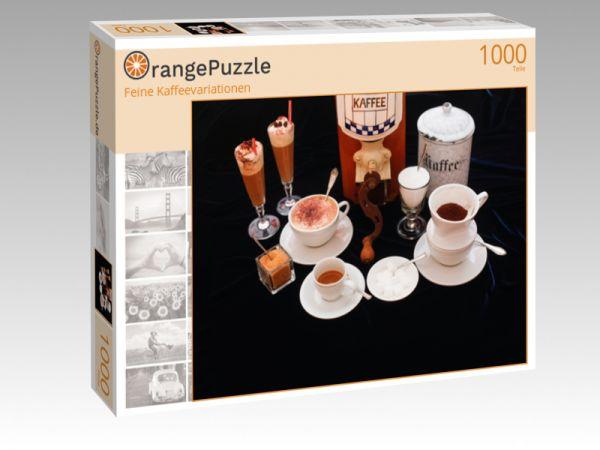 """Puzzle Motiv """"Feine Kaffeevariationen"""" - Puzzle-Schachtel zu 1000 Teile Puzzle"""