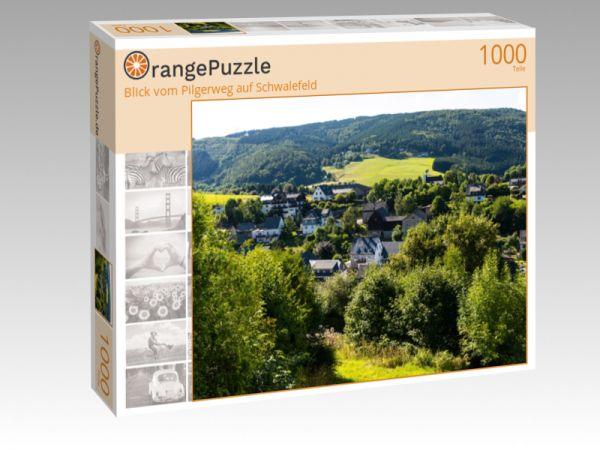 """Puzzle Motiv """"Blick vom Pilgerweg auf Schwalefeld"""" - Puzzle-Schachtel zu 1000 Teile Puzzle"""