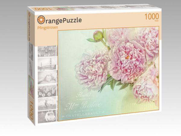 """Puzzle Motiv """"Pfingstrosen"""" - Puzzle-Schachtel zu 1000 Teile Puzzle"""
