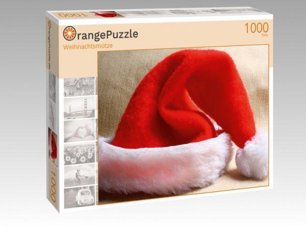 """Puzzle Motiv """"Weihnachtsmütze"""" - Puzzle-Schachtel zu 1000 Teile Puzzle"""