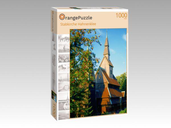 """Puzzle Motiv """"Stabkirche Hahnenklee"""" - Puzzle-Schachtel zu 1000 Teile Puzzle"""