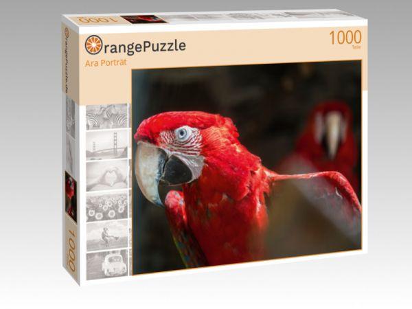 """Puzzle Motiv """"Ara Porträt"""" - Puzzle-Schachtel zu 1000 Teile Puzzle"""