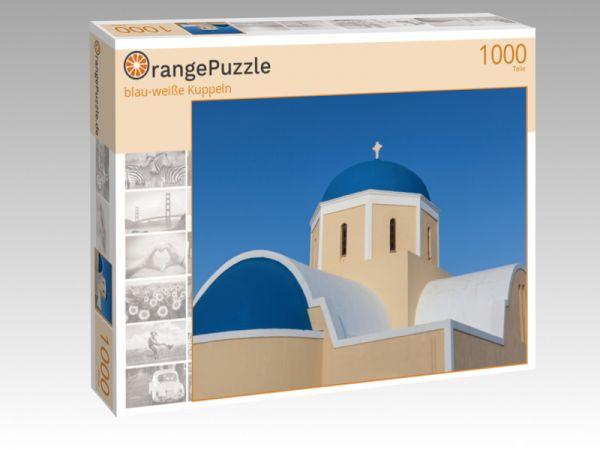 """Puzzle Motiv """"blau-weiße Kuppeln"""" - Puzzle-Schachtel zu 1000 Teile Puzzle"""