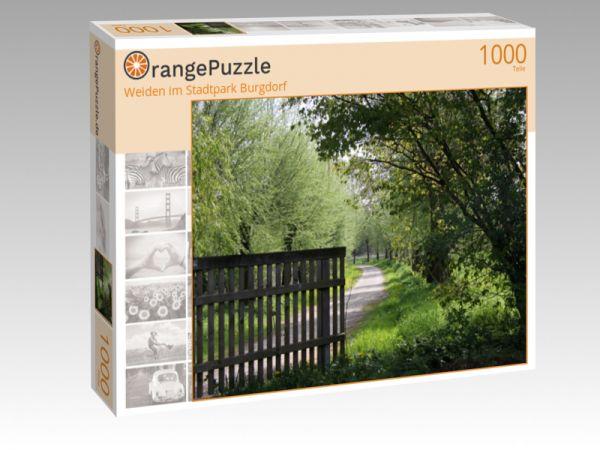 """Puzzle Motiv """"Weiden im Stadtpark Burgdorf"""" - Puzzle-Schachtel zu 1000 Teile Puzzle"""