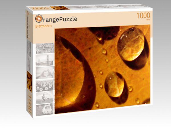 """Puzzle Motiv """"Blattadern"""" - Puzzle-Schachtel zu 1000 Teile Puzzle"""