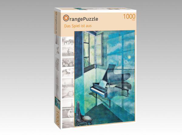 """Puzzle Motiv """"Das Spiel ist aus"""" - Puzzle-Schachtel zu 1000 Teile Puzzle"""