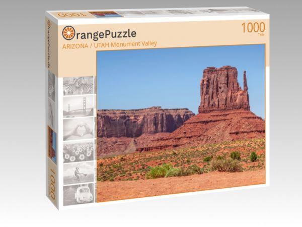 "Puzzle Motiv ""ARIZONA / UTAH Monument Valley"" - Puzzle-Schachtel zu 1000 Teile Puzzle"